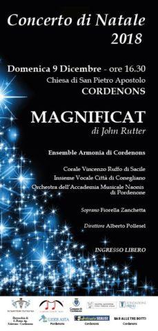 Concerto di Natale Cordenons 2018